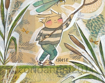 art for boys by Cori Dantini, The Adventurers by Blend fabrics, watercolor - nursery decor - limited edition - 8 x 10 print