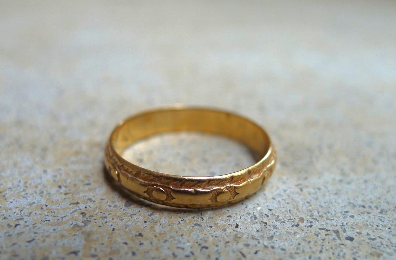 Vintage Wedding Band 14K Gold Ring Engagement Ring Simple
