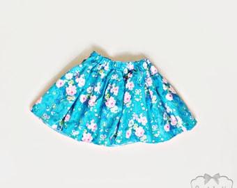 Blue Bow Skirt - Girl Twirl Skirt - Baby Pink Blue Twirl Skirt - Infant Rose Skirt - Tween Caravelle Skirt - Toddler 6 month to Girl 16