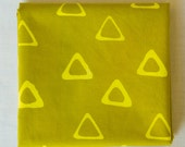 Triangle Tribe Hand Dyed and Patterned Fabric in Yellow and Amber