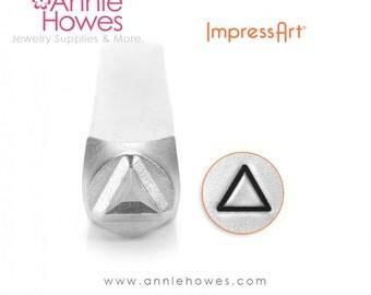 Impressart Metal Stamp  - Triangle Design Stamp