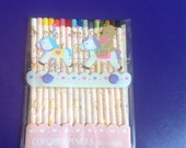 Vintage Sanrio Tweedle Dee Dee Bear Color Pencils