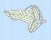 Applique Lord of the Rings (LOTR) Elf Leaf Brooch Machine Embroidery Design File