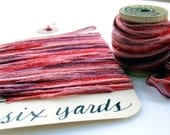 Red Wine Seamed String Ribbon, six yards stretchy string for gift wrapping, product packaging, craft projects
