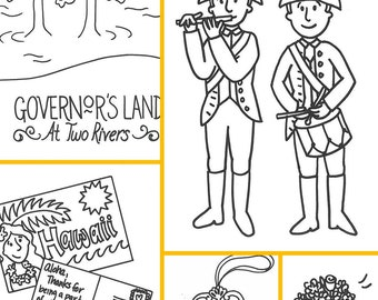 Custom Coloring Book Favor 8 pages - PDF
