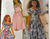 Vintage Sewing Pattern Butterick 6015 Girls' Dress Size 12-14 Complete