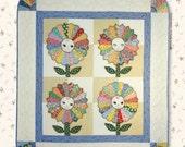 Pattern -- Sunflower Baby -- Dresden Plate Baby Quilt Pattern -- Embroidered Baby Face Quilt -- Baby Quilt Pattern