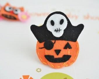 New! Set of 6pcs handmade Halloween Pumpkin--orange (FT1029)