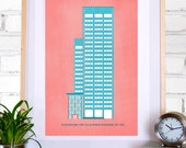 Alcoa Pittsburgh Building Illustration: 11x17 Poster