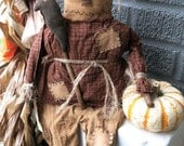 Po Scarecrow EPATTERN...primitive country halloween thanksgiving fall autumn cloth doll craft digital download sewing pattern...PDF...1.99