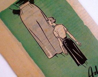 Vintage 1950s Wiggle Skirt Pattern Anne Adams 4686 Mail Order Pattern Waist 28 Hip 37 Rockabilly