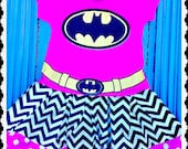 girls BatGirl dress Bat Girl 2T 3T 4T and 5T ready to ship super hero