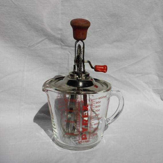 pyrex one quart glass measuring cup and hand mixer. Black Bedroom Furniture Sets. Home Design Ideas