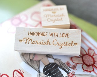 Custom Stamp - Handmade With Love - Customized Stamp - Personalized - Shop Stamp