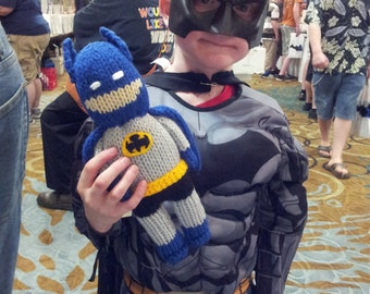 Batman- 10 inch tall-soft stuffed toy doll