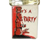 1950s Tiki Party Invitations, Never Opened, Vintage Tropical Paper Cards