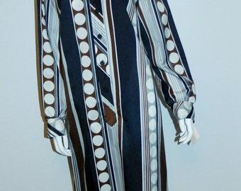 vintage 1960s shirt dress / MOD geometric print / Country Miss XL - XXL