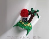 Crochet miniature ring Home sweet home