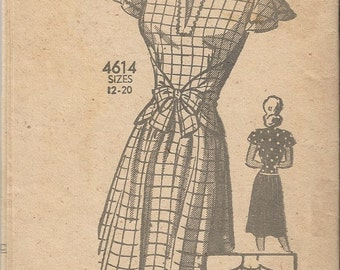 RARE 1940s Anne Adams 4614 Top and Skirt Sewing Pattern Size 20 B38