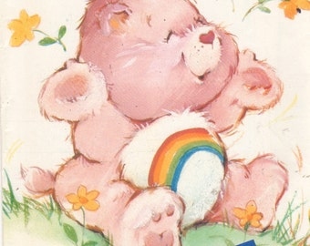 Butterick 6230 1980s CHEER BEAR Care Bear Pattern GAILOURSoN Vintage Stuffed Toy Animal Sewing Pattern 17 Inches UNCUT