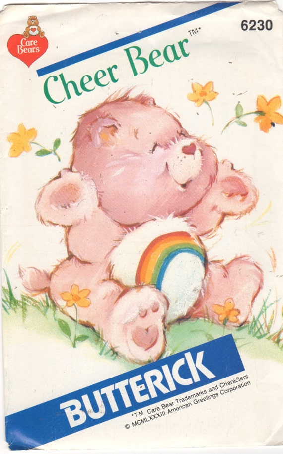 1980s Care Bears pattern for Cheer Bear toy Butterick 6230 ©American Greetings Corporation