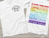 team Teacher shirts - back to school kindergarten teacher t-shirts (customize for any grade) personalized teacher's shirt LIGHT COLORS