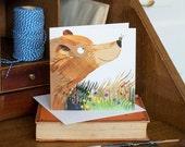 Bear and Bee greetings card