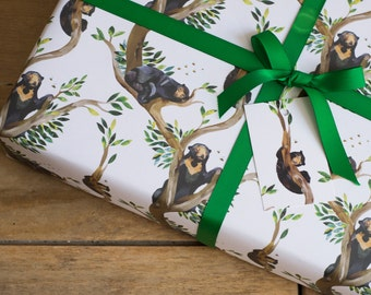 Sun Bears & Bees Wrapping Paper - 100% Recycled