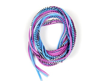 Burning Man, Cowl, Gift For Her, Purple Scarf, Blue Scarf, Chunky Necklace, Tribal Necklace, Birthday Gift, Scarves and Wraps, Scarves