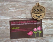 Planner Accessories - Light Brown Fall Harvest Smiling Acorn Paper Clip Or Bookmark - Autumn Book Accessory For All Ages