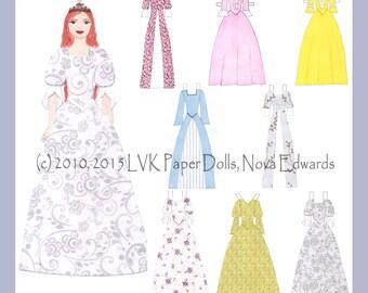 Princess Catherine Paper Doll