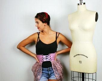 Lace Bustle, Purple Bustle, Steampunk Bustle, Womens Costume, Halloween Costume, Stage Wear, Pastel Goth