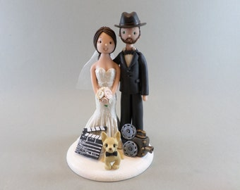 Custom Made Movie Theme Wedding Cake Topper