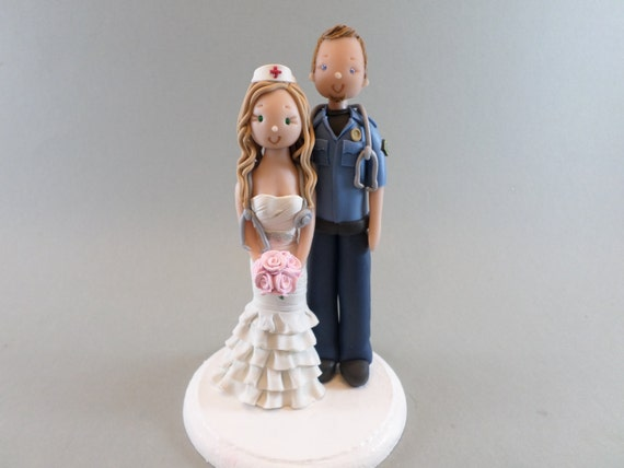 nurse wedding cake toppers paramedic amp custom made wedding cake topper 17951