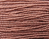6/0 Metallic Copper Czech Glass Seed Bead Strand (CW198)