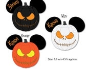 Nightmare Jack Pumpkin Mouse Head Magnets for Disney Cruise Vacation