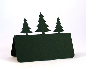 Pine Trees Place Cards Set of 50