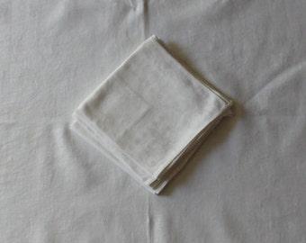 6 beautiful damask vintage napkins, Fleur de Lis pattern