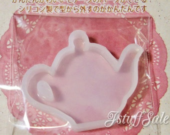 Flexible silicone mold for resin craft (Teapot)