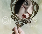 Lowbrow Print  - Reflection In Mirror - Emotionally scarred