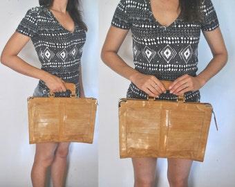 EEL Leather Laptop or iPad bag / tan