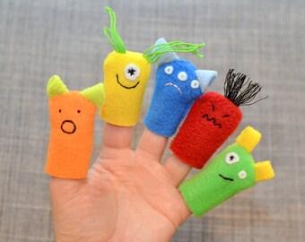 Feelings Monster Finger Puppets, Emotions (5-pack)