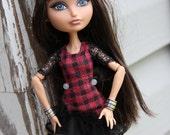 1  Silver Metal Bangle Cuff Bracelet fits Petite Slimline Dolls