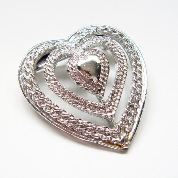 vintage brooch gerry s jewelry silvertone many