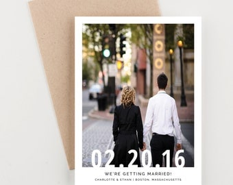 Photo Save The Date, The Big Day Pictorial Save The Date, Engagement Picture, Wedding Announcement