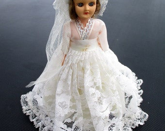 Vintage Bride Doll from 1960 Wedding Shower Great Condition