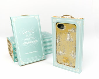 Yellow iPhone 6 Case Toile iPhone 5S Case,  Case, Cottage Chic iPhone 6 Plus Case or Samsung Galaxy S6
