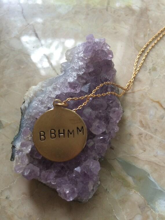 "Rihanna Jewelry ""BBHMM""  Engraved Necklace bitch better have my money"