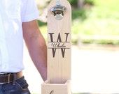 Personalized Rustic Bottle Opener Wood Wedding, Groomsman, Best Man, Bachelor Party, Christmas, 21st Birthday, Dad Gift, (NVMHDA1319)