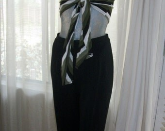 Vintage 1950s Black Cigarette Pants Size Med Mint Cond Perma Press Never Needs Ironing